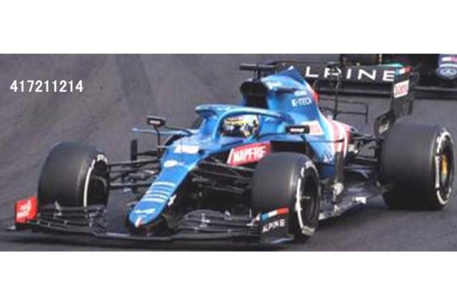 [予約] ミニチャンプス 1/43 アルピーヌ F1チーム A521 ハンガリーGP 2021 F.アロンソ 417211214