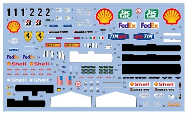 シュンコーモデル 1/20 フェラーリ F2001 2001 (タミヤ対応) SHK-D419