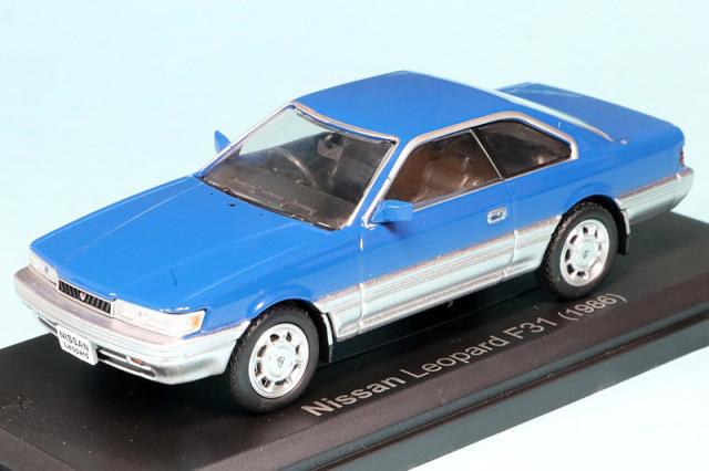 ノレブ 1/43 ニッサン レパード F31 1986 ブルー 420178