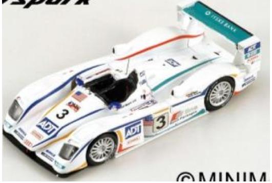 [再生産予約] スパーク 1/43 アウディ R8 ルマン 2005 no.3 ウィナー 43LM05