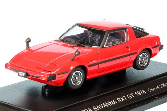 [絶版] エブロ 1/43 マツダ サバンナ RX-7 GT 1978 レッド 43588
