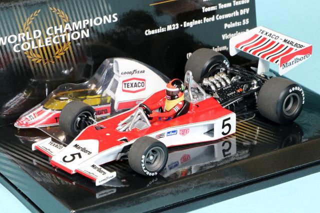 ミニチャンプス 1/43 マクラーレン M23 フォード 1974 ワールドチャンピオン E.フィッティパルディ (エンジン付) デカール加工品 436740005S