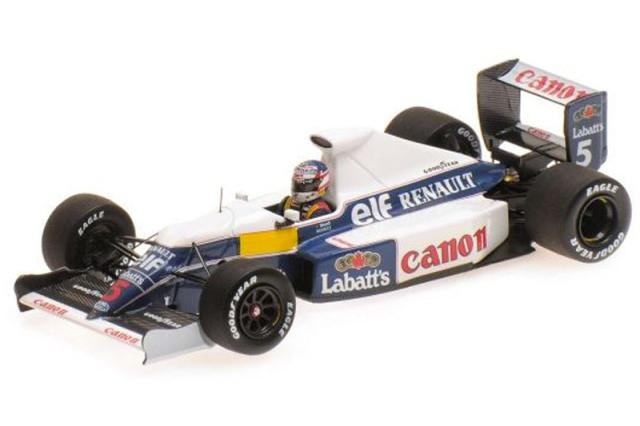 ミニチャンプス 1/43 ウィリアムズ ルノー FW13B N.マンセル テストセッション (レジン) 437910105
