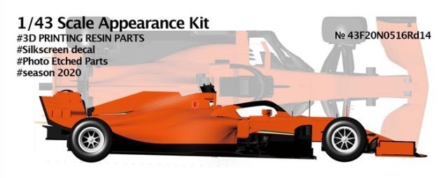 ニュースクラッチ 1/43 3Dパーツキット 跳ね馬 SF1000 トルコ GP 2020 インターミディエイトタイヤ仕様 43F20N0516Rd14