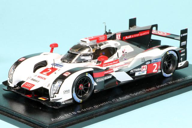 スパーク 1/43 アウディ R18 e-トロン クワトロ ルマン 24h 2014 LMP1-H Winner No.2 43LM14