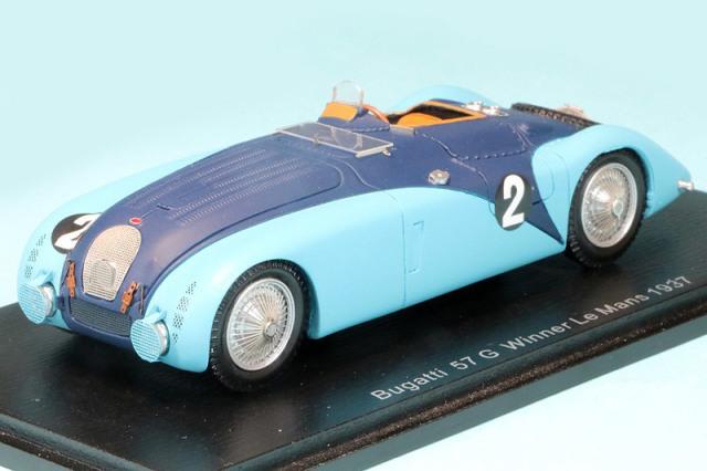スパーク 1/43 ブガッティ 57G ルマン 24h 1937 Winner No.2 43LM37