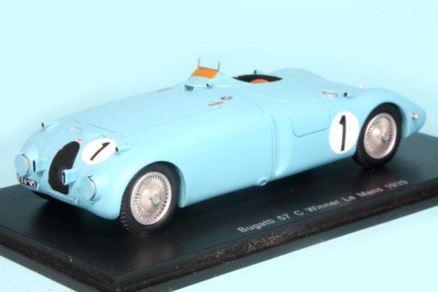 スパーク 1/43 ブガッティ 57C ルマン 24h 1939 Winner No.1 43LM39