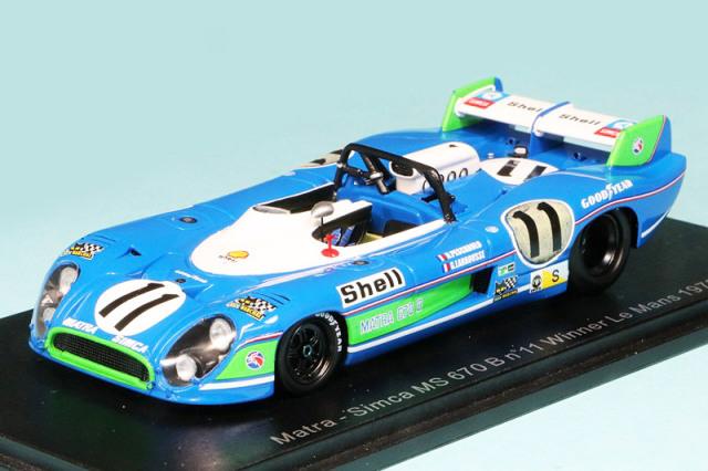 スパーク 1/43 マトラ シムカ MS670B ルマン 24h 1973 Winner No.11 43LM73