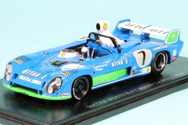 スパーク 1/43 マトラ シムカ MS670B ルマン 24h 1974 Winner No.7 43LM74