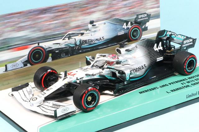 特注ミニチャンプス 1/43 メルセデス AMG ペトロナス W10 ドイツGP 2019 L.ハミルトン 447191144