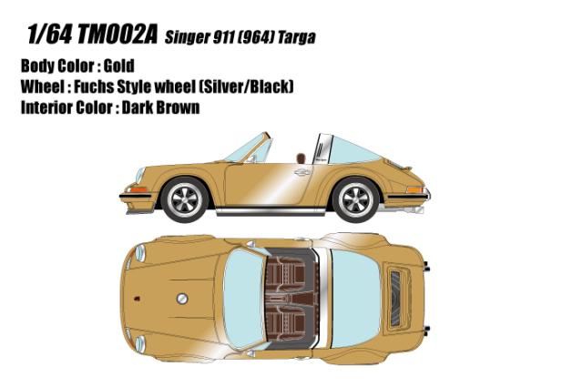[予約] タイタン64 1/64 シンガー 911 (964) タルガ ゴールド TM002A