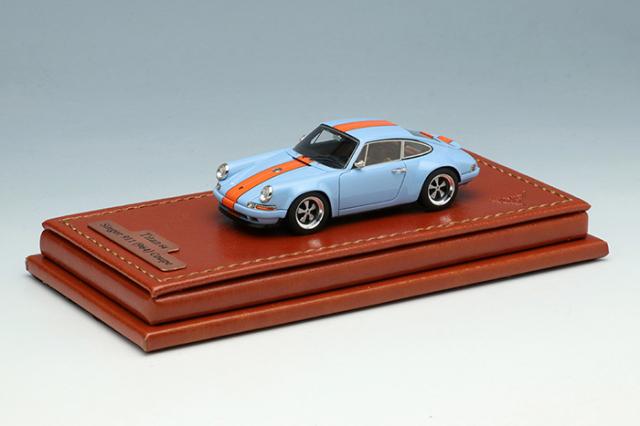 [予約] タイタン64 1/64 シンガー 911 (964) クーペ ガルフブルー / オレンジストライプ (限定700台、国内販売350台) TM001F