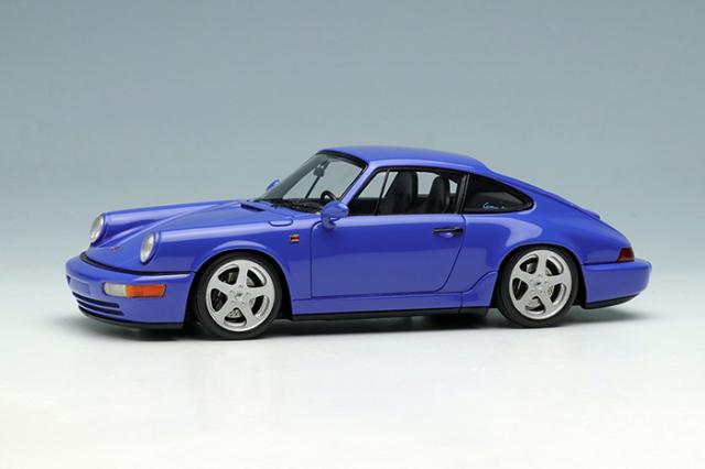 [予約] ヴィジョン 1/43 ポルシェ 911(964) カレラ RS 1992 (RUFホイール) マリタイムブルー (限定50台、国内販売25台) VM149A