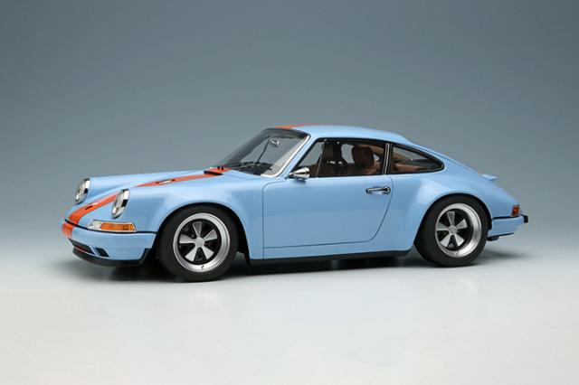 [予約] イデア 1/18 シンガー 911 (964) クーペ ガルフブルー (オレンジストライプ) (限定120台、国内販売60台) IM035E