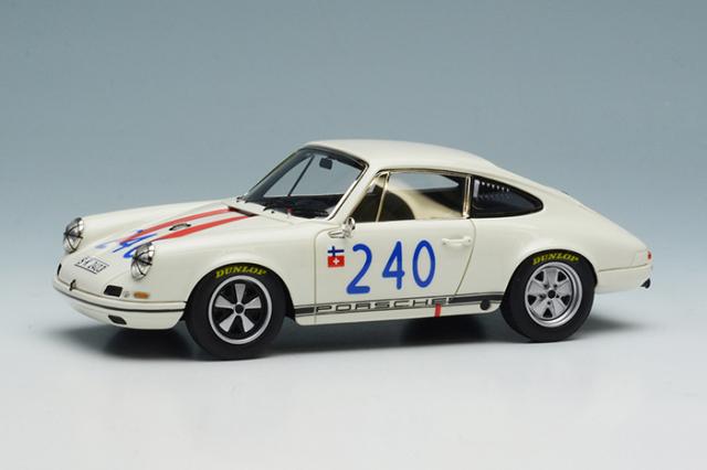"""[予約] ヴィジョン 1/43 ポルシェ 911 R """"ポルシェシステムエンジニアリング"""" タルガ・フローリオ 1969 No.240 VM197"""