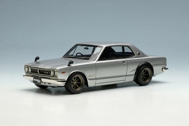 [予約] ヴィジョン 1/43 ニッサン スカイライン 2000 GT-R (KPGC10) 1971 (RSワタナベ 8スポークホイール) シルバー VM242A