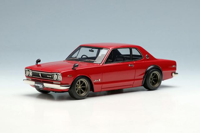 [予約] ヴィジョン 1/43 ニッサン スカイライン 2000 GT-R (KPGC10) 1971 (RSワタナベ 8スポークホイール) レッド VM242B