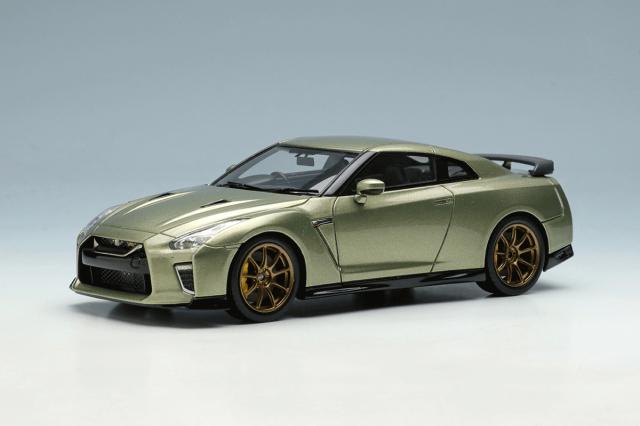 [予約] アイドロン 1/43 ニッサン GT-R プレミアムエディション T-spec 2022 ミレニアムジェイド EM624A