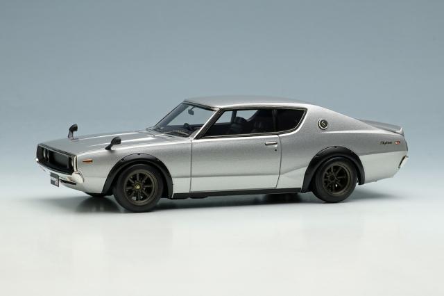 [予約] ヴィジョン 1/43 ニッサン スカイライン 2000 GT-R ケンメリ (KPGC110) 1973 (RSワタナベ 8スポークホイール) シルバー VM243B