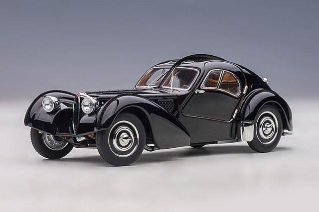 [予約] オートアート 1/43 ブガッティ タイプ57SC アトランティック 1938 ブラック フル開閉 (ディスクホイール) 50946