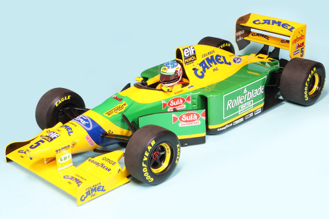 ミニチャンプス 1/18 ベネトン フォード B193 カナダGP 1993 2nd M.シューマッハ デカール加工品 510932505S