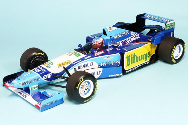 ミニチャンプス 1/18 ベネントン ルノー B195 ドイツGP 1995 Winner ワールドチャンピオン M.シューマッハ 510952701