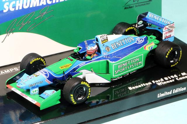 ミニチャンプス 1/43 ベネトン B194 フォード カナダGP 1994 Winner M.シューマッハ 517940605