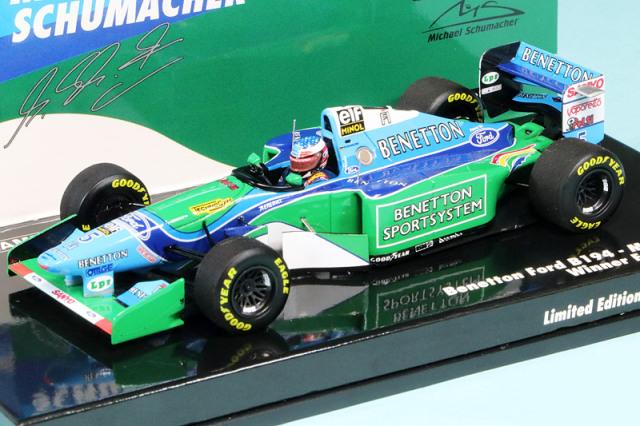 ミニチャンプス 1/43 ベネトン B194 フォード フランスGP 1994 Winner M.シューマッハ 517940705