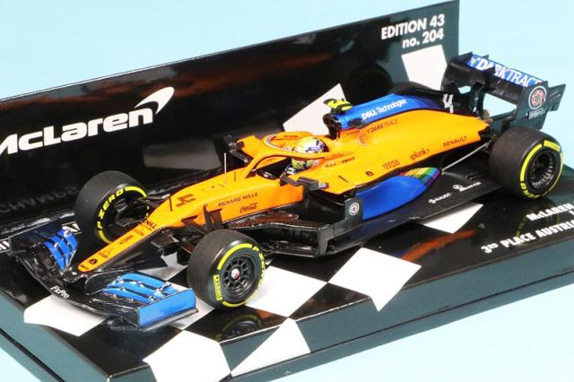 ミニチャンプス 1/43 マクラーレン ルノー MCL35 オーストリアGP 2020 3rd L.ノリス 537204404