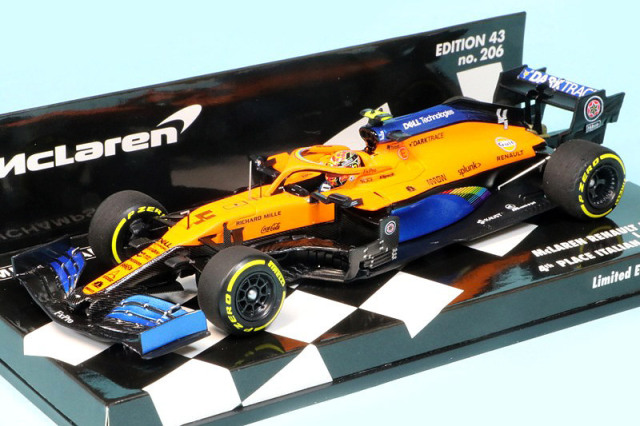 ミニチャンプス 1/43 マクラーレン ルノー MCL35 イタリアGP 2020 4th L.ノリス 537205104