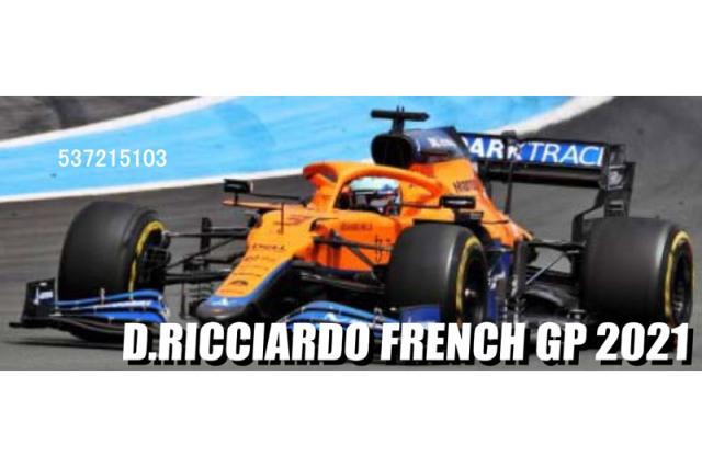 [予約] ミニチャンプス 1/43 マクラーレン F1 MCL35M フランスGP 2021 D.リカルド 537215103