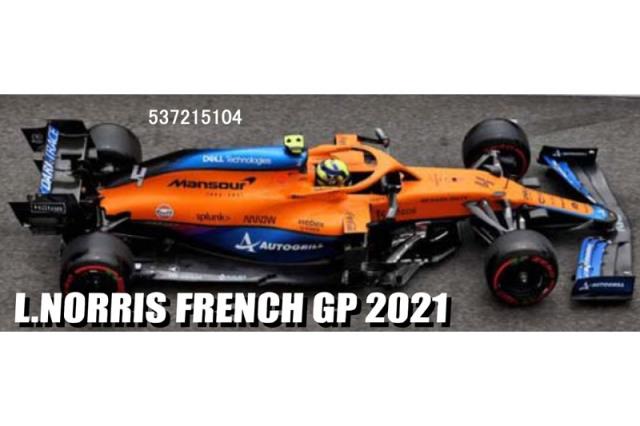 [予約] ミニチャンプス 1/43 マクラーレン F1 MCL35M フランスGP 2021 L.ノリス 537215104