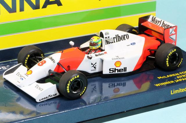 ミニチャンプス 1/43 マクラーレン MP4/8 フォード 日本GP 1993 Winner A.セナ デカール加工品 540934378S