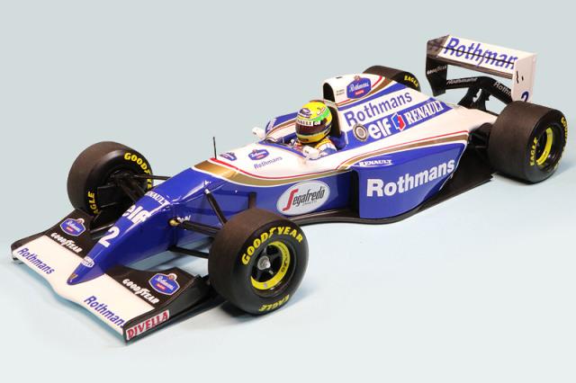 ミニチャンプス 1/18 ウィリアムズ ルノー FW16 ブラジルGP 1994 A.セナ デカール加工品 540941821S