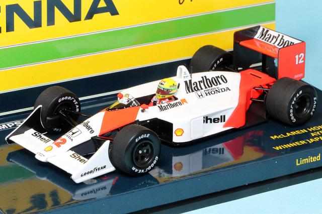 [予約] ミニチャンプス 1/43 マクラーレン MP4/4 ホンダ 日本GP 1988 Winner A.セナ デカール/フィギュア加工品 547884512SS