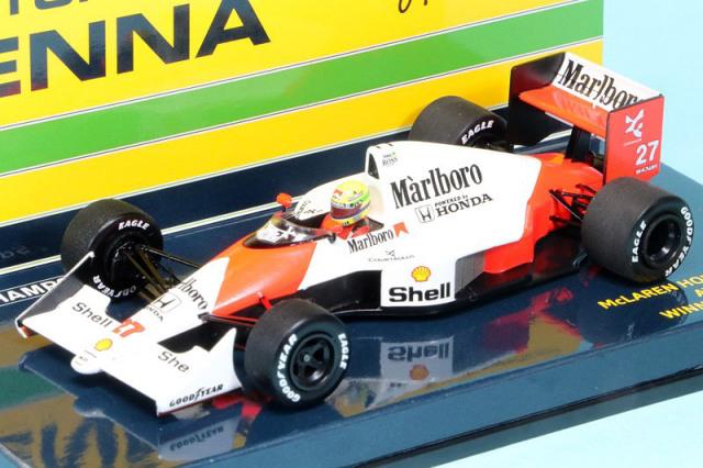 [予約] ミニチャンプス 1/43 マクラーレン ホンダ MP4/5B U.S.A.GP 1990 Winner A.セナ デカール加工品 547904327S