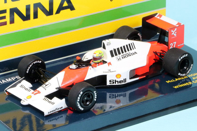 [予約] ミニチャンプス 1/43 マクラーレン ホンダ MP4/5B ドイツGP 1990 Winner A.セナ デカール加工品 547904427S