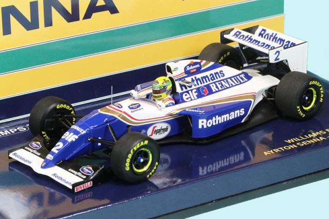 """ミニチャンプス 1/43 ウィリアムズ FW16 ルノー パシフィックGP 1994 A.セナ """"セナコレクション"""" デカール加工品 547940202S"""