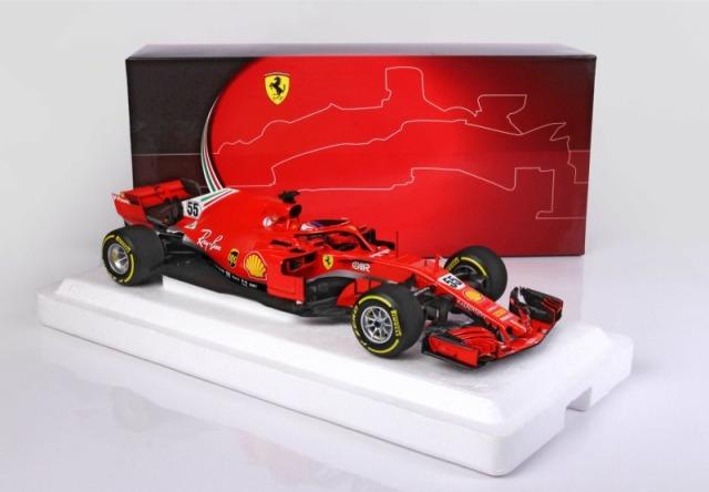 [予約] BBR 1/18 フェラーリ  SF71H フィオラノ テスト C.サインツ ディスプレイケース無し BBR211895