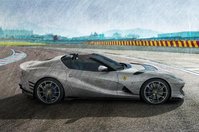 [予約] MRコレクション 1/18 フェラーリ 812 コンペティチオーネ A 2021 オープンルーフ カーボングレー FE034C