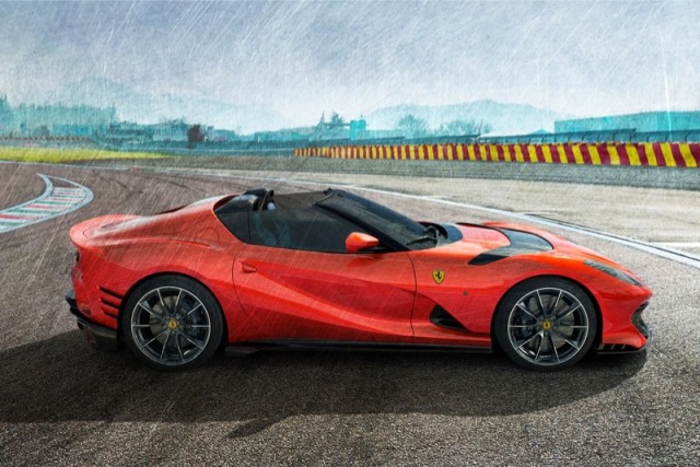 [予約] MRコレクション 1/18 フェラーリ 812 コンペティチオーネ A 2021 オープンルーフ ロッソスクーデリア FE034D