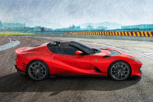 [予約] MRコレクション 1/18 フェラーリ 812 コンペティチオーネ A 2021 オープンルーフ ロッソTSR FE034E