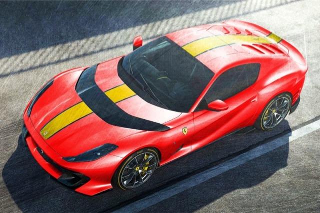 [予約] MRコレクション 1/18  フェラーリ 812 コンペティチオーネ 2021 ロッソコルサ/イエローストライプ FE033C