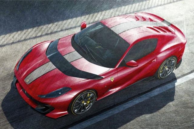 [予約] MRコレクション 1/18  フェラーリ 812 コンペティチオーネ 2021 メタリックレッド/グレーストライプ FE033D