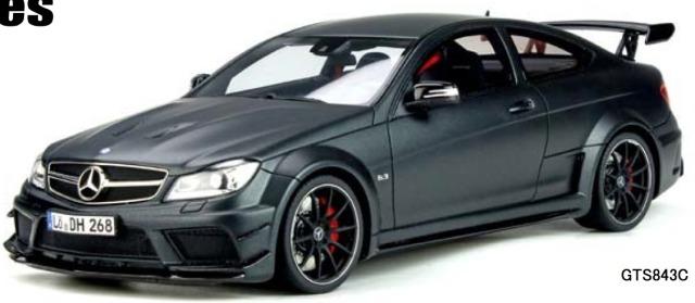 [予約] GT-SPIRIT 1/18 メルセデスベンツ C63 AMG クーペ ブラックシリーズ マットブラック 海外別注 GTS843C