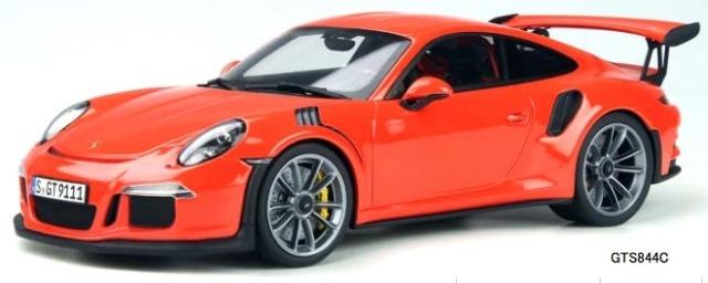 [予約] GT-SPIRIT 1/18 ポルシェ 911 991 GT3 RS オレンジレッド 海外別注 GTS844C
