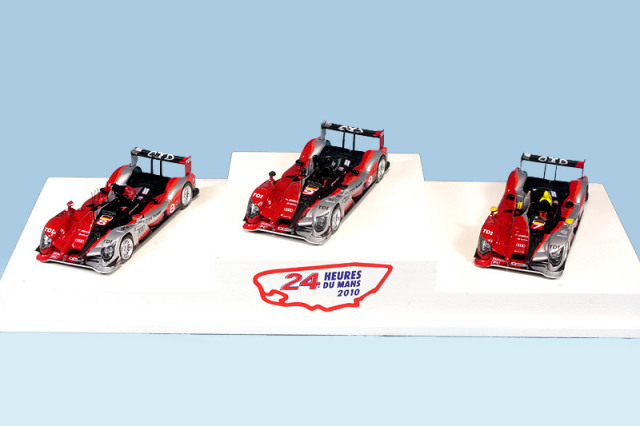 スパーク 1/87 アウディ R15 TDI+ ルマン 24h 2010 3台セット 87PO10