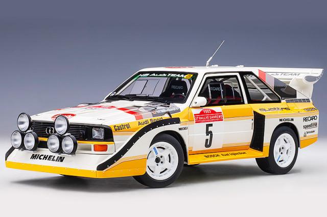 [予約] オートアート 1/18 アウディ スポーツ クワトロ S1 WRC サンレモラリー 1985 Winner No.5 88503