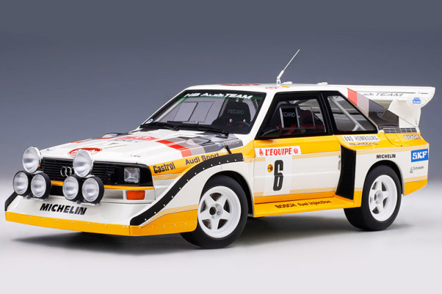 [予約] オートアート 1/18 アウディ スポーツクワトロ S1 WRC モンテカルロラリー 1986 No.6 88602