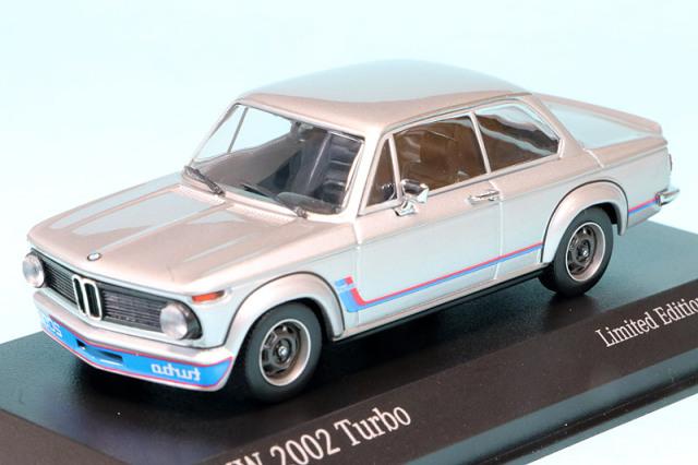 ミニチャンプス 1/43 BMW 2002 ターボ 1973 シルバー 943022205